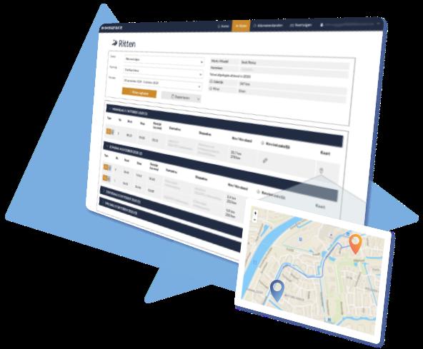 Inclusief 30 dagen gratis Kilometerregistratie App